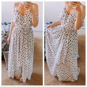 Abercrombie & Fitch floral print maxi dress Large